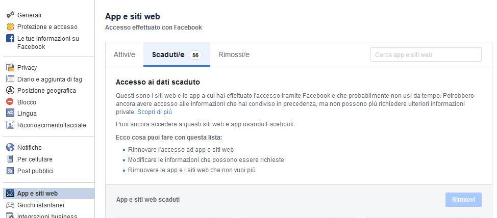 facebook-app-scadute